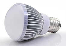 A bulb-shaped modern retrofit LED lamp with aluminium heat sink, a light diffusing dome and E27 screw base, using a built-in power supply working on mains voltage Br20 1.jpg