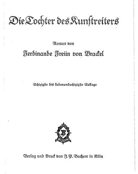 File:Brackel Die Tochter des Kunstreiters.djvu