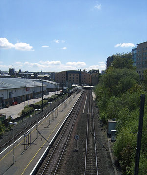 Bradford Forster Square railway station - View of the railway station from Hamm Strasse