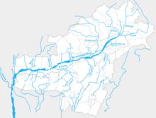 Brahmaputra basin in India