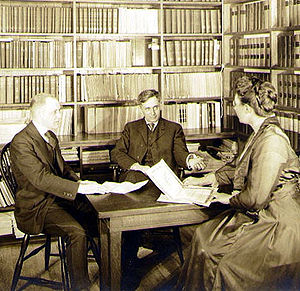 Public interest law - Brandeis (center) in his office 1916.