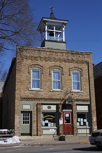 National Register of Historic Places listings in Fond du Lac County, Wisconsin - Image: Brandon Village Hall and Library Wisconsin