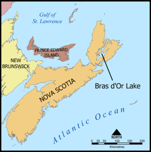 Bras d'Or Lake - Bras d'Or Lake, Nova Scotia.
