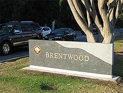 Brentwood marker sign