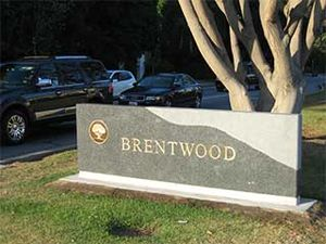 Brentwood, Los Angeles - Brentwood marker sign