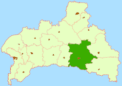 Location of Pinskas rajons