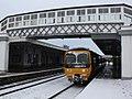 Bridgwater - GWR 166209 Bristol service in the snow.JPG