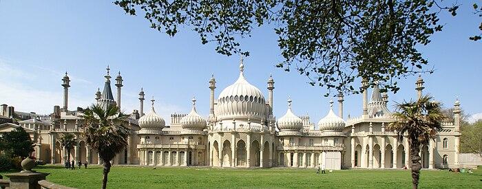 Panorámica de los Pabellones Reales de Brighton