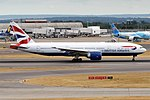 British Airways, G-VIIC, Boeing 777-236 ER (43497122215).jpg