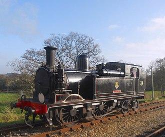 Isle of Wight Steam Railway - Image: British Railways Class O2 W24 Calbourne