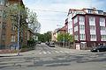 Brno-Cerna Pole - zapadni cast Tesnohlidkovy ulice, vyfotografovana z Merhautovy ulice.jpg