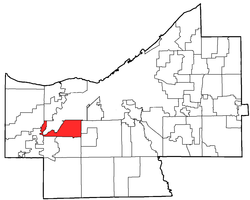 Location of Brook Park in Cuyahoga County