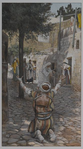 Capernaum - James Tissot – Healing of the Lepers at Capernaum (Guérison des lépreux à Capernaum) – Brooklyn Museum