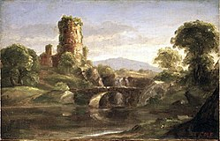 Brooklyn Museum - Ruined Castle and River - Thomas Cole - overall.jpg