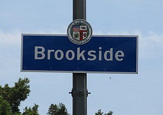 Brookside, Los Angeles - Image: Brookside Sign