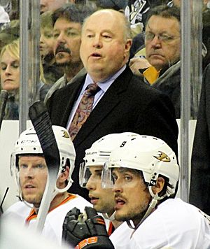 Bruce Boudreau - Boudreau coaching the Anaheim Ducks in 2012