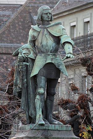 Adrian von Bubenberg - The Bubenberg monument in Bern (Max Leu, 1897)