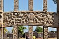 Buddha Worshipped in Jungle by Animals - Middle Architrave - Rear Side - East Gateway - Stupa 1 - Sanchi Hill 2013-02-21 4462.JPG