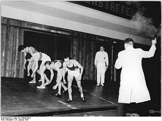 Starting pistol - A starting pistol in use at an East German athletics competition in 1961.