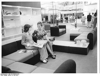 Deutsche Werkstätten Hellerau - DWH wall units displayed at the Leipzig Trade Fair, 1974