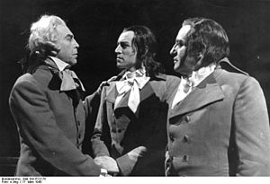 Dantons Tod (opera) - A scene in the first performance in Germany at the Hamburg State Opera in 1948
