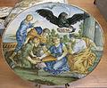 C.sf., castelli, carmine gentile, ovale con allegoria dell'accademia degli illuminati, 1730-1750.JPG