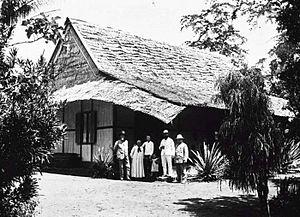 Rumah misionaris di Buli (sekarang di Kabupaten Halmahera Timur