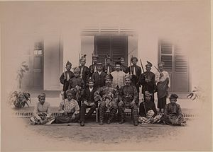 Yamtuan Besar - Tuanku Muhammad Shah (seated in the middle) with his personal attendants, 1897.