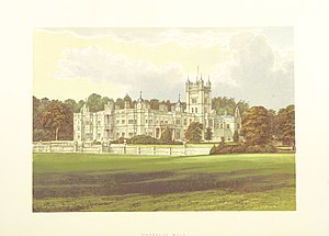 Underley Hall - Underley Hall in 1879, from A Series of Picturesque Views of Seats of the Noblemen and Gentlemen of Great Britain and Ireland, by Francis Orpen Morris.