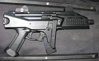 CZ Scorpion Evo 3 - 9 mm semi-auto CZ Scorpion EVO 3 S1 pistol-carbine, right view.