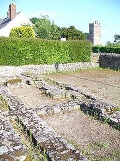 Caerwent Human settlement in Wales