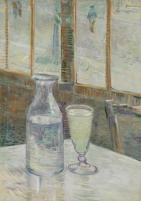Still Life with Glass of Absinthe and a Carafe, 1887. Van Gogh Museum, Amsterdam