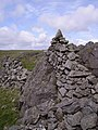 Cairn and Wall - geograph.org.uk - 441975.jpg