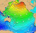 Calculated Travel Time Map for 1964 Alaska Tsunami.jpg