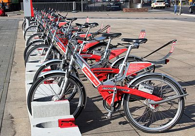 Call-a-Bikes at a rental station
