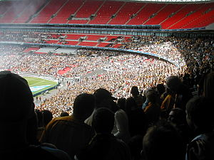 Cambridge United F.C. - The Cambridge supporters at Wembley Stadium