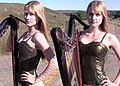 Camille and Kennerly Kitt Promotional Picture For A Harp Duet Video.jpg