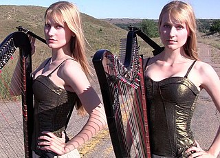 Camille and Kennerly Kitt American twin actresses and harpists