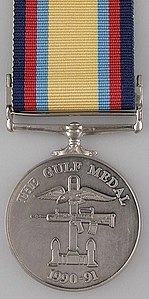 Campaign Medal awarded to British forces for the Gulf War 1990-91 (Reverse).jpg
