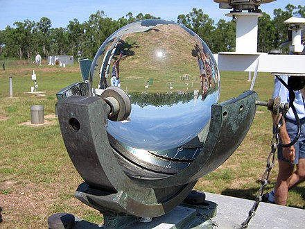 Campbell-Stokes recorder measures sunshine Campbell-Stokes recorder.jpg