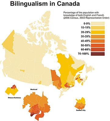 Bilingualism rates in Canada