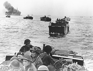 Amphibious warfare ship - Canadian landings at Juno Beach in the Landing Craft Assault.