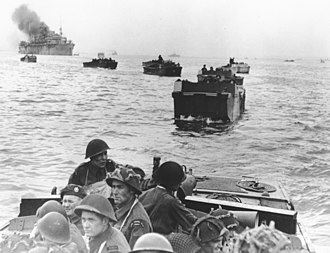 Landing craft - Canadian landings at Juno Beach in the Landing Craft Assault.