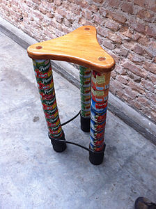 Cans repurposed as a chair in Brazil.jpg