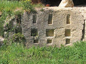 Roman shipyard of Stifone (Narni) - Remains of the shipyard