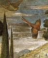 Cappella dei magi, falco che insegue un fagiano.jpg