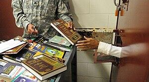 Prison library - Library books, Guantanamo prison, 2011