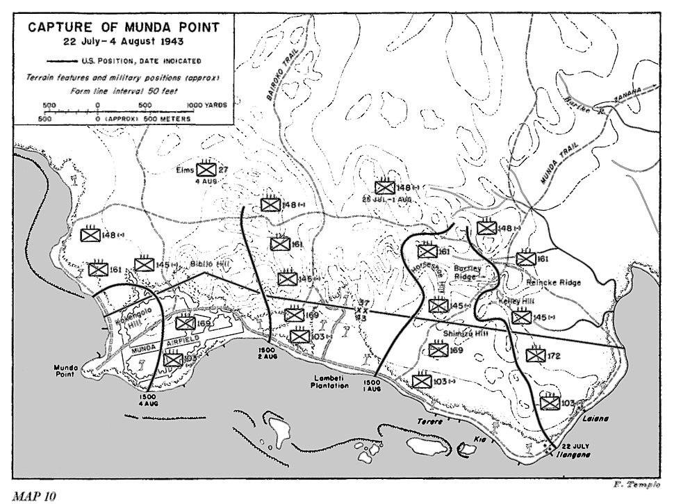 Capture of Munda Point