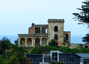 Cargill's Castle - The ruins of Cargill's Castle, now surrounded by new residential subdivisions, in southwest Dunedin, New Zealand.