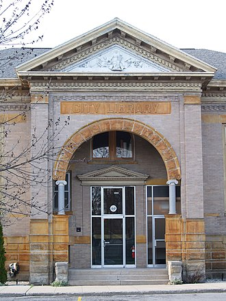 Traverse City, Michigan - The Grand Traverse Heritage Center (formerly known as Carnegie Library), on 6th Street in Old Towne.